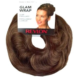 2 REVLON GLAM WRAP Medium Brown Hair Piece